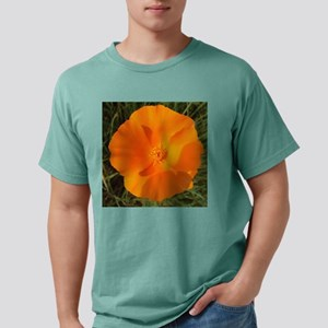 California poppy with gr Mens Comfort Colors Shirt