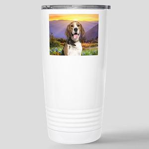 Beagle Meadow Stainless Steel Travel Mug