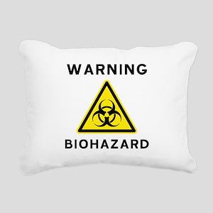 Biohazard Warning Sign Rectangular Canvas Pillow
