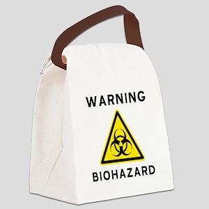 Biohazard Warning Sign Canvas Lunch Bag