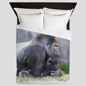 Gorilla in Thought Queen Duvet