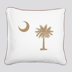 Palmetto & Cresent Moon Square Canvas Pillow