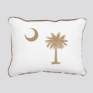 Palmetto & Cresent Moon Rectangular Canvas Pillow