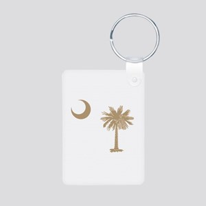 Palmetto & Cresent Moon Aluminum Photo Keychain