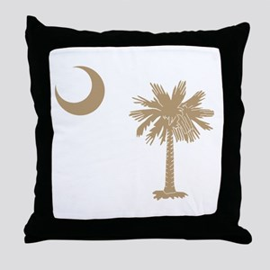 Palmetto & Cresent Moon Throw Pillow