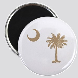 Palmetto & Cresent Moon Magnet