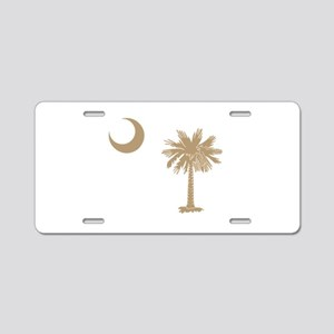 Palmetto & Cresent Moon Aluminum License Plate