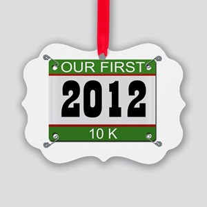 Our First 10K (Bib) - 2012 Picture Ornament
