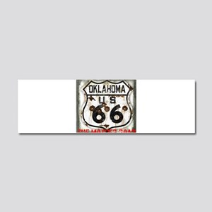 Oklahoma Route 66 Classic Car Magnet 10 x 3