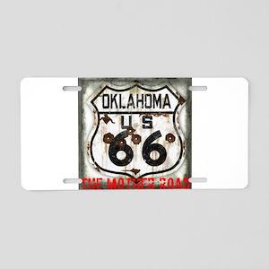 Oklahoma Route 66 Classic Aluminum License Plate