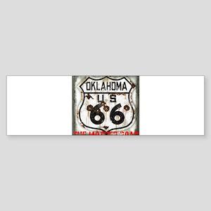 Oklahoma Route 66 Classic Sticker (Bumper)