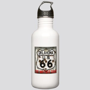 Oklahoma Route 66 Classic Stainless Water Bottle 1