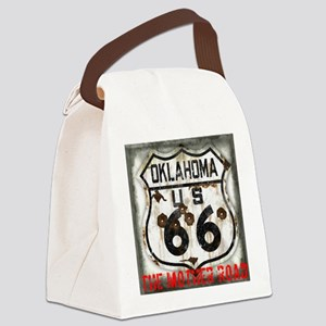 Oklahoma Route 66 Classic Canvas Lunch Bag