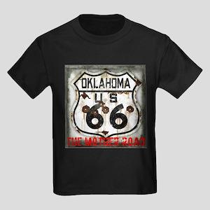 Oklahoma Route 66 Classic Kids Dark T-Shirt