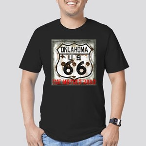 Oklahoma Route 66 Classic Men's Fitted T-Shirt (da