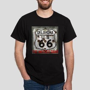 Oklahoma Route 66 Classic Dark T-Shirt