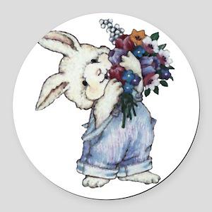 rabbit Round Car Magnet