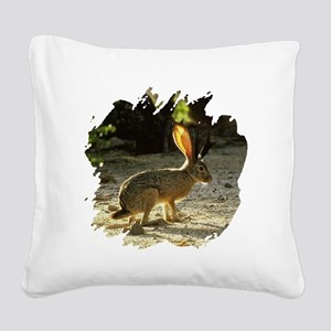 Jackolope1a Square Canvas Pillow