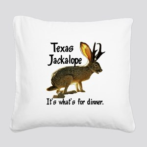 Jackolope6 Square Canvas Pillow