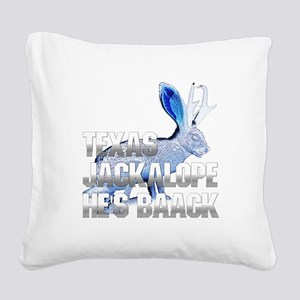 Jackolope5a Square Canvas Pillow