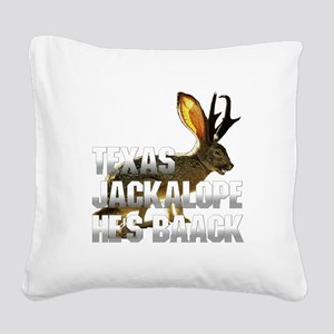 Jackolope4 Square Canvas Pillow