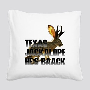 Jackolope4a Square Canvas Pillow