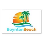 Boynton Beach Rectangle Sticker