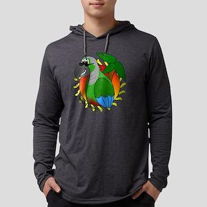 cartoon_greencheek Mens Hooded Shirt
