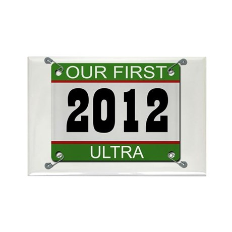 Our First Ultra (Bib) - 2012 Rectangle Magnet
