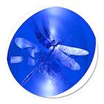 dragonfly11clk8 Round Car Magnet