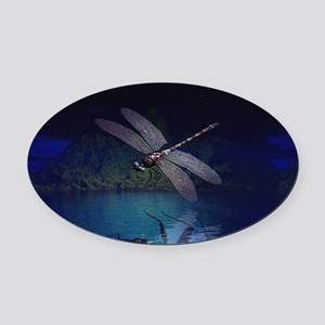 dragonfly10asq Oval Car Magnet