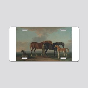 Mares and Foals Aluminum License Plate