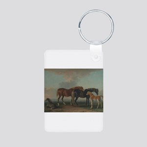 Mares and Foals Aluminum Photo Keychain