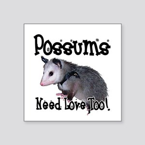 "possum34 Square Sticker 3"" x 3"""