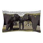 Elephant Eyes Woodcut Pillow Case