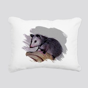 Baby Possum Rectangular Canvas Pillow