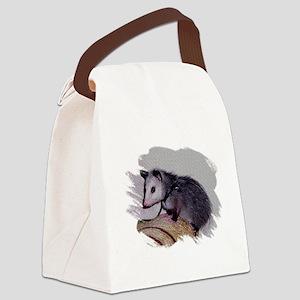 Baby Possum Canvas Lunch Bag