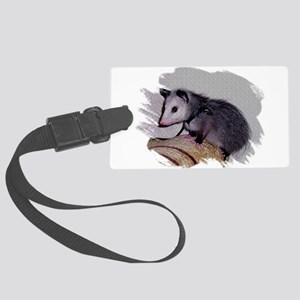 Baby Possum Large Luggage Tag