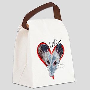 Possum Love Canvas Lunch Bag