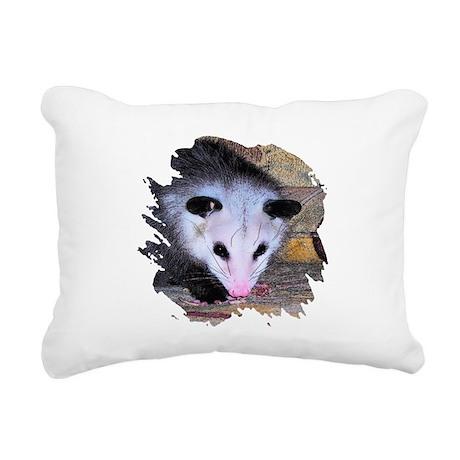 possum Rectangular Canvas Pillow