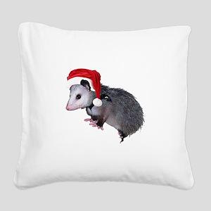 santaspossum Square Canvas Pillow