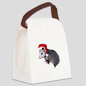 santaspossum Canvas Lunch Bag