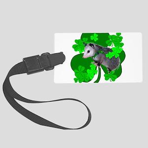 Lucky Irish Possum Large Luggage Tag