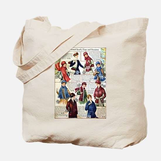 1910s Winter Scarves Tote Bag