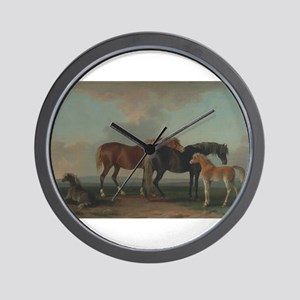 Mares and Foals Wall Clock