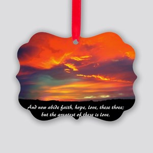 Love Faith Hope Picture Ornament