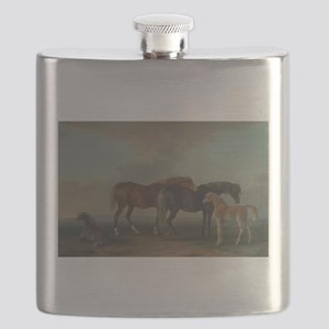 Mares and Foals Flask