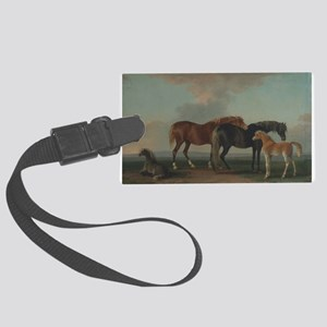 Mares and Foals Large Luggage Tag