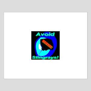 Avoid Stingrays! Small Poster