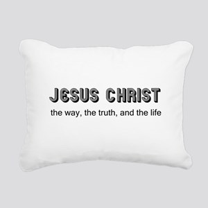 Jesus is the Way Rectangular Canvas Pillow